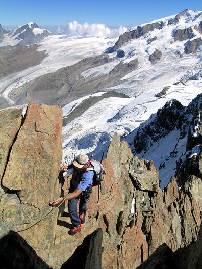 Alpine Climbing on the Breithorn Swiss Alps