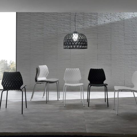 Zast sedia struttura in metallo pelle sintetica sedia di for Cosma arredamenti