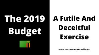 The 2019 National Budget Is A Futile And Deceitful Exercise
