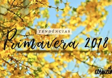 Paleta de cores Primavera/Verão 2018