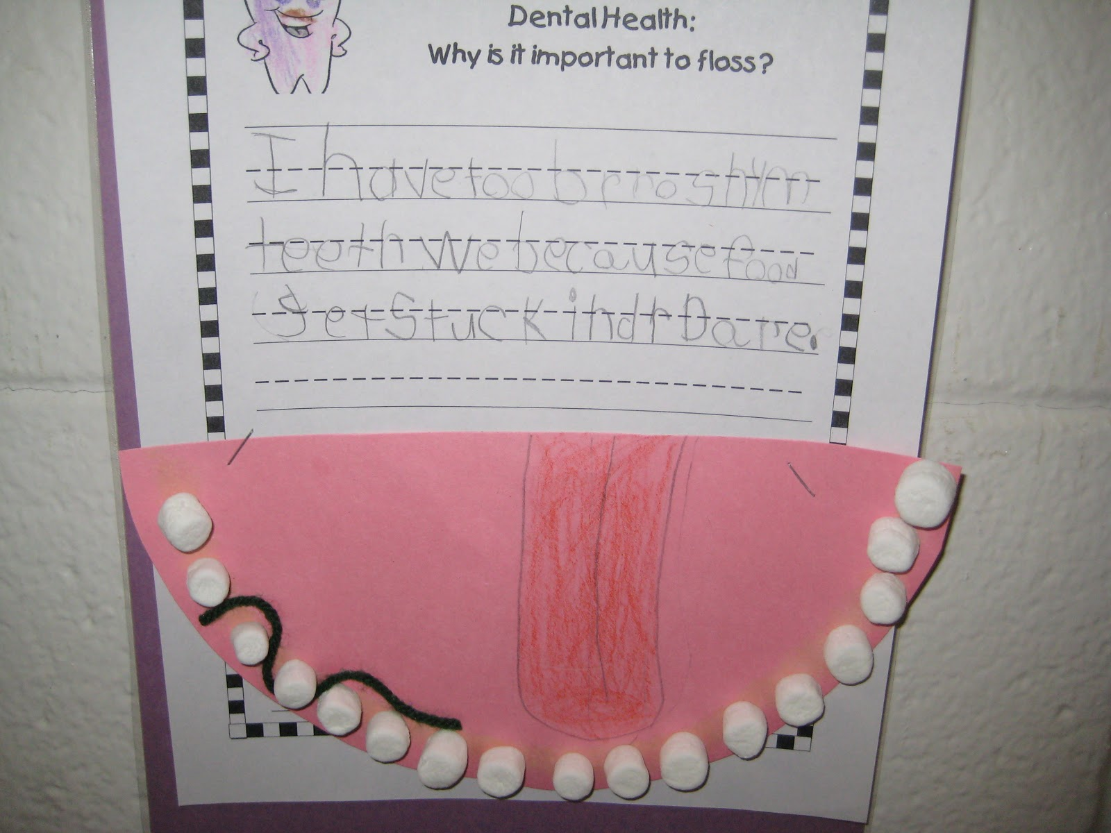 Tooth And Mouth Coloring Worksheet