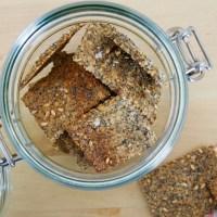Crackers de Sementes e Tomilho