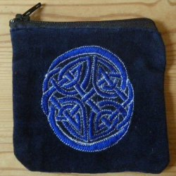 Velvet Celtic Zip Purse