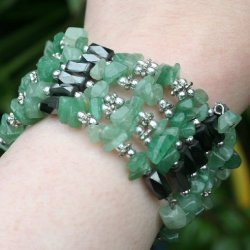 Hematite Aventurine Wrap Bracelet