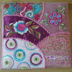 Large Embroidered Notebooks Pink