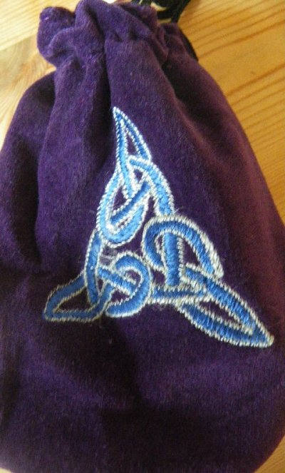 Purple Velvet Celtic Pouch
