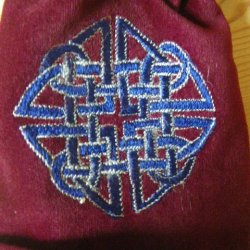 Red Velvet Celtic Pouch
