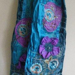 Satin Velvet ScarvesTurquoise