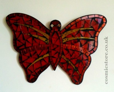 mosaic butterfly mirror large