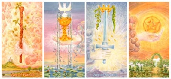 elements aces in the tarot