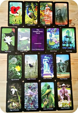cosmic faery tarot deck court cards