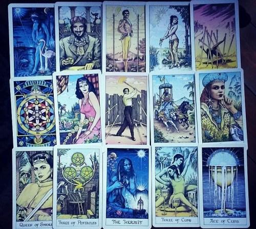 cosmic tarot deck and book