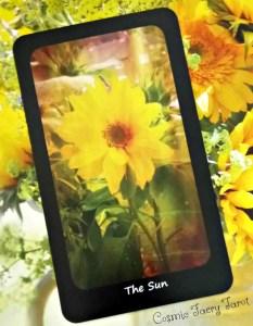 the sun, cosmic faery tarot