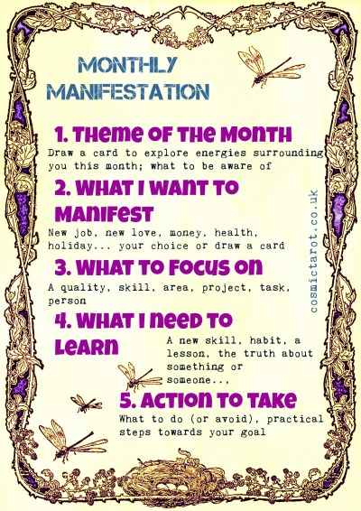 monthly manifestation tarot