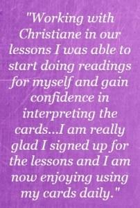 tarot training testimonial