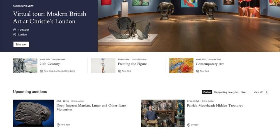 Cenowe szaleństwo na internetowych aukcjach online domu aukcyjnego Christie's