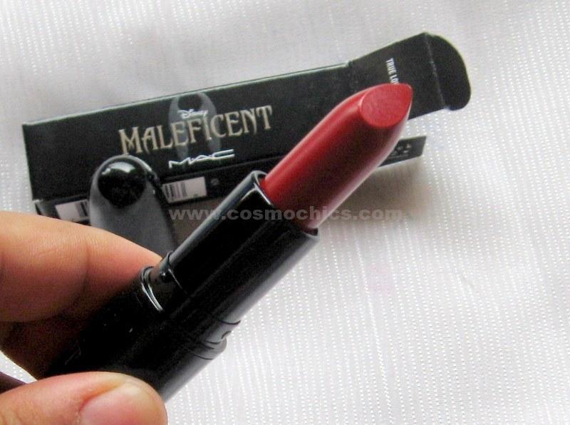 Disney Maleficent Mac Lipstick,True Love's Kiss: Review & Swatches