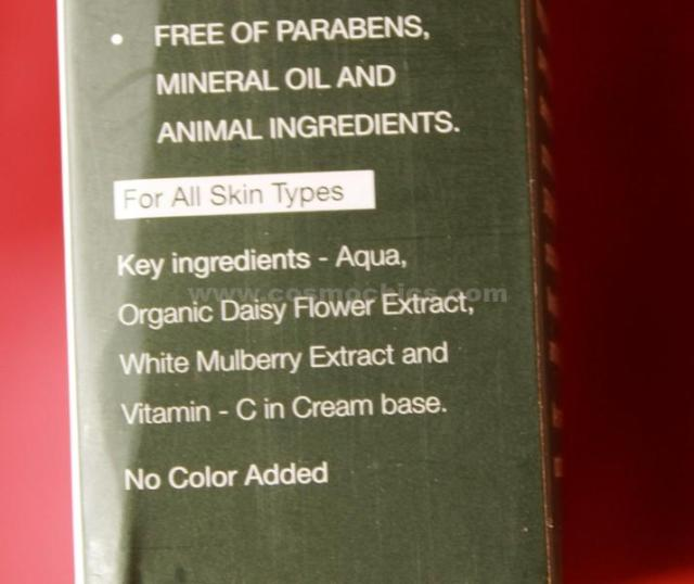 Organic Harvest Anti Pigmentation Cream Ingredients