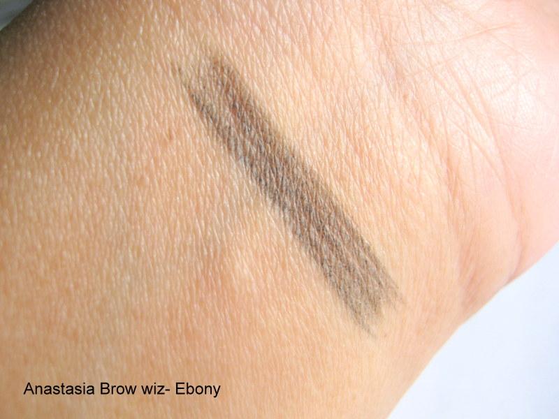 "Anastasia Beverly Hills Brow Wiz Shade ""Ebony"": Review & Swatches -"