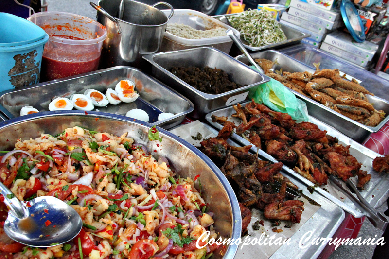 chicken wings and chicken feet and salted eggs in Malaysia langkawi