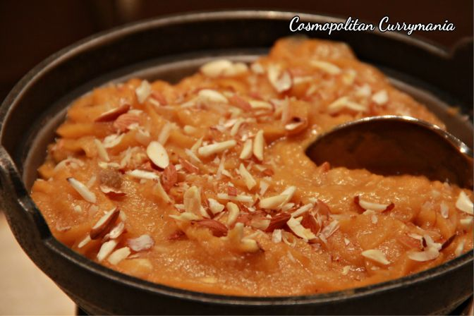 Try the Khubani ka Halwa. It's quite addictive.