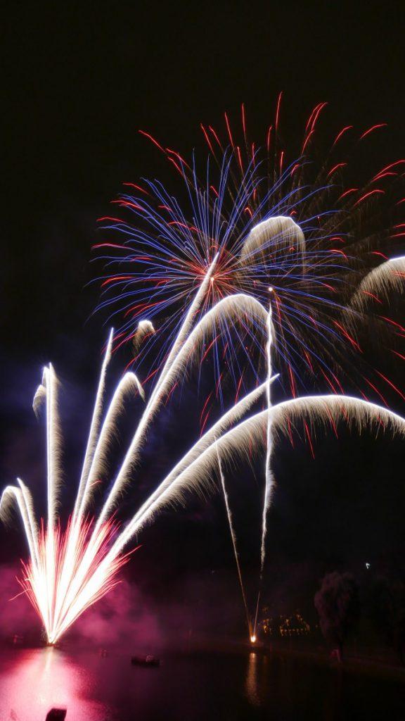 Fuochi d'artificio all'Olympiapark