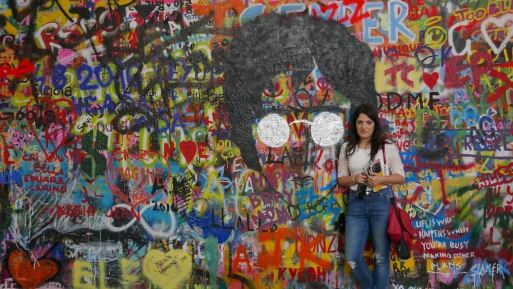 Lennon wall, nei pressi della Kampa island