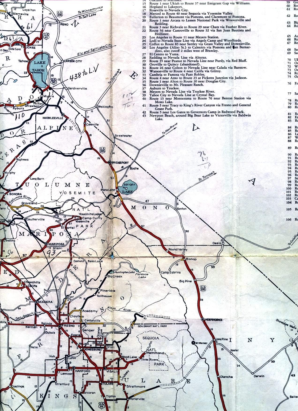 Us Hwy 395 California Map