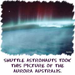 Image of Aurora Australis created over the southern hemisphere