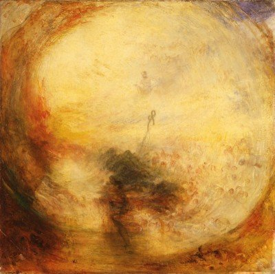 Luz e Cor (Teoria de Goethe) – A manhã depois do dilúvio - Moisés escrevendo o livro. Joseph Mallord William Turner, 1843.