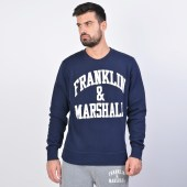 Franklin & Marshall Fleece Cotton Round Neck Sweatshirt (9000040432_1629)