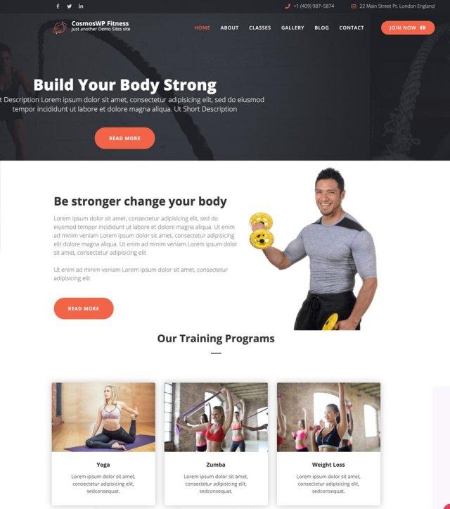 CosmosWP Fitness