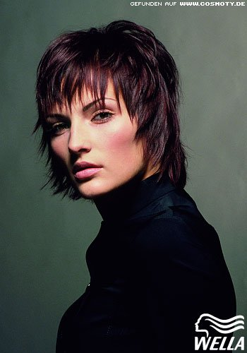 Frisuren Bilder Durchgestufter EdelPunk  Frisuren Haare