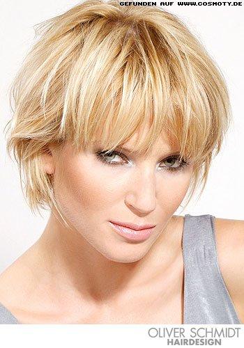 Frisuren Bilder Gestufter Bob Mit Blonden Highlights Frisuren Haare