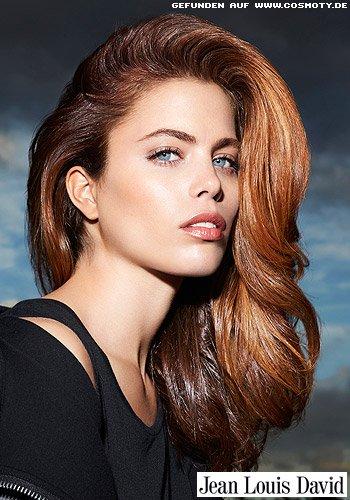 Frisuren Bilder Glnzende Lngen mit helleren Strhnen