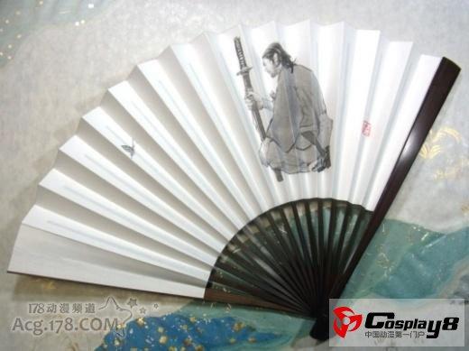 純手工折扇圖案是宮本武藏與佐佐木小次郎_Cosplay中國