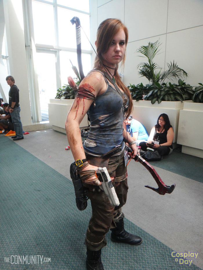 Lara Croft Steps From The Shadow Of The Tomb Raider At Anime