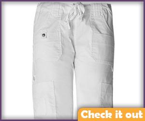 White cargo pants.
