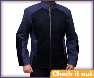 Steve Rogers Blue Jacket.