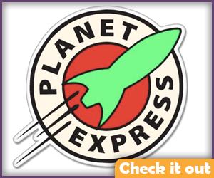 Planet Express Sticker.