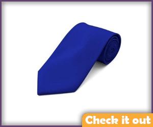 Solid Blue Tie.