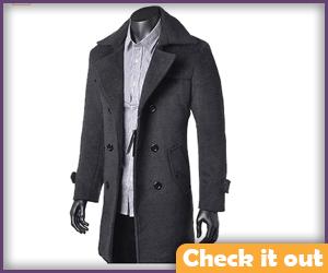Gray Long Coat.