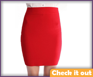 Plain Red Skirt.