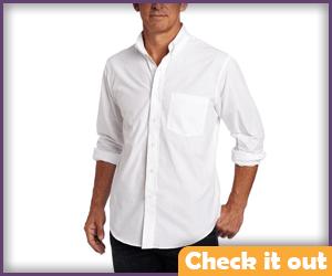 White button down shirt.