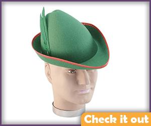 Green Robin Hood Felt Cap.