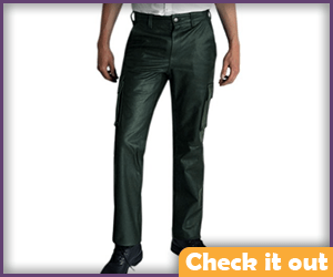 Green Leather Pants.