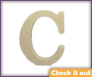 "Wooden 4"" Letters (for CAGE belt)."