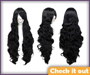 Long Black Wig.