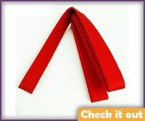 Red martial arts belt.