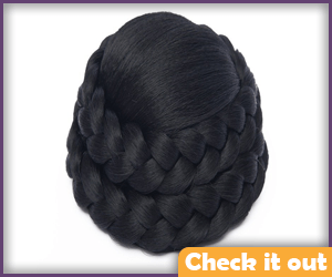 Black Bun Wig.